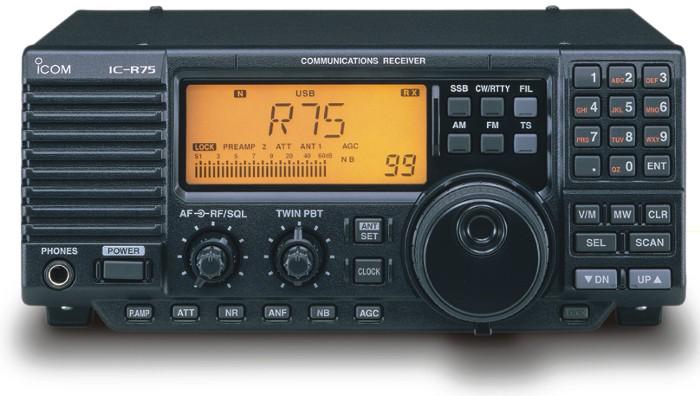 Icom R75 Icom Ic R75 Communications Receiver R 75