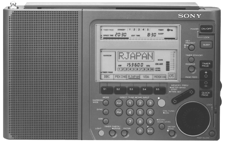 Sony Icf Sw77 Shortwave Radio Sony Icfsw77