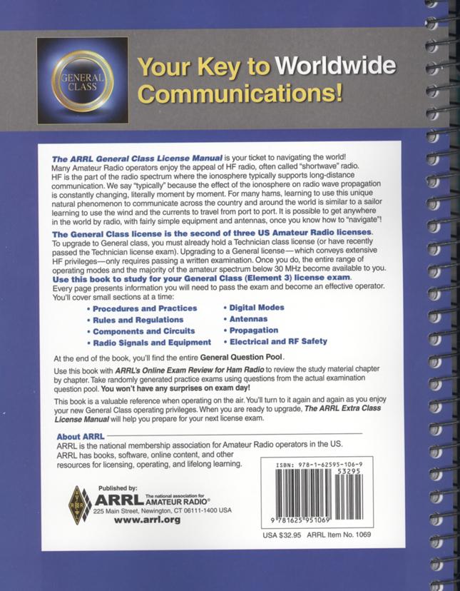 ARRL General Class License Manual #1069