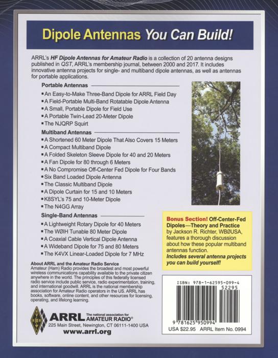 HF Dipole Antennas for Amateur Radio ARRL