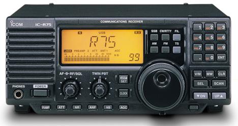 ICOM R75 Icom ic-r75 Communications Receiver, R-75
