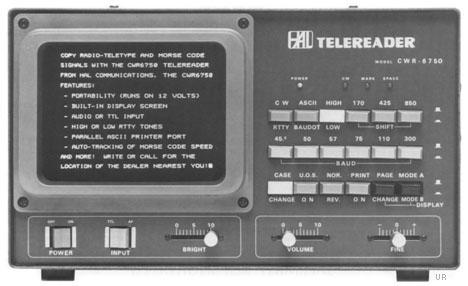 Hal CWR6750 Telereader  Hal cwr-6750 rtty decoder