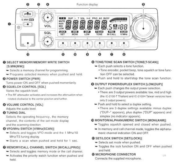 icom 2100h 25n ic 2100h mobile amateur transceiver ic 2100