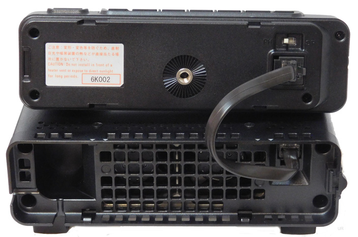 Or there is an optional YSK-891 front panel separation kit. The front panel  has a large dot matrix LCD display with a Quick Spectrum Scope.