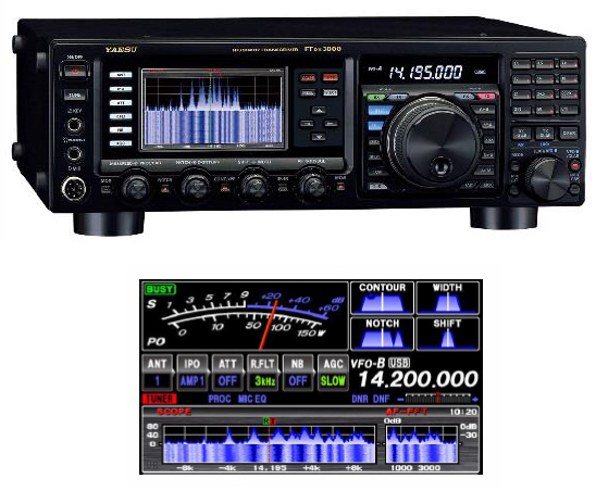 Yaesu ftdx3000 waterfall display for Ft 3000