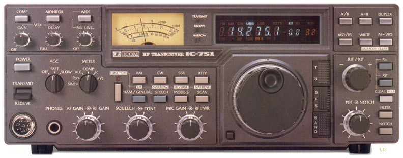 ... Front Panel | Top Panel | Rear Panel. Icom 751