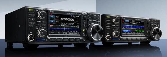 Icom IC-9700 with IC-7300