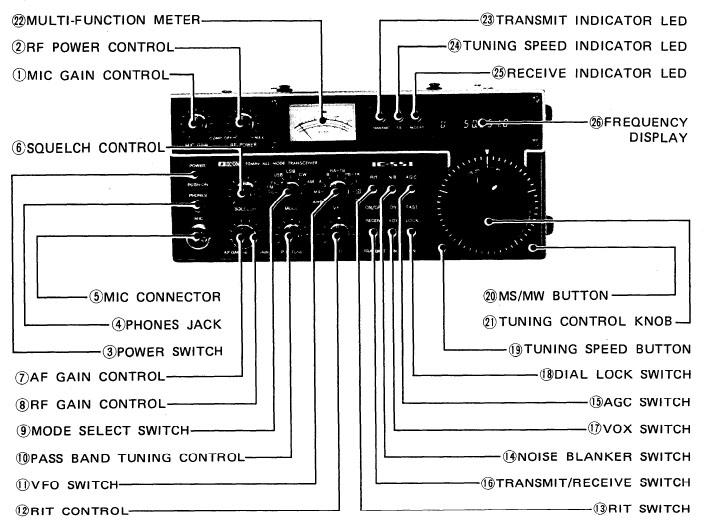 Icom 551 Transceiver Icom Ic 551 6 Meter Xcvr
