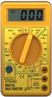 How To Read A Multimeter >> Digital Multimeter DT830D
