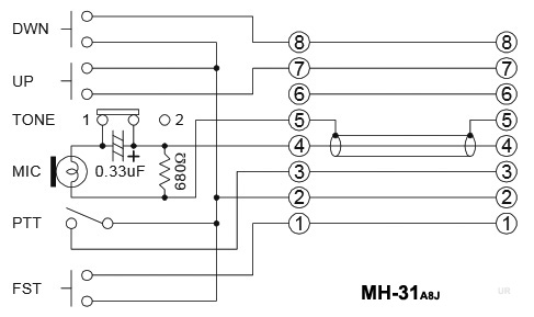 0406dia Yaesu Ft Rh Mic Wiring Diagram on