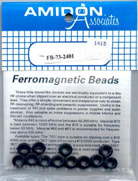 Amidon Ferrite Beads, Coil Forms, Toroidal Cores