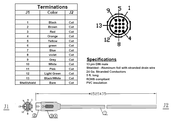 4893 din cable 5 pin din wiring diagram audio at virtualis.co