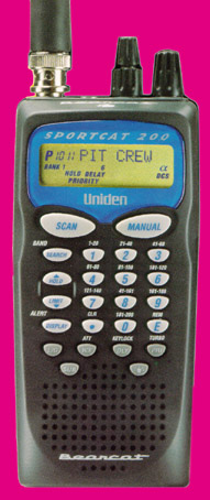 bearcat sc200 sportcat scanner rh universal radio com Uniden Sportcat 180 Battery Uniden Sportcat 180 Battery