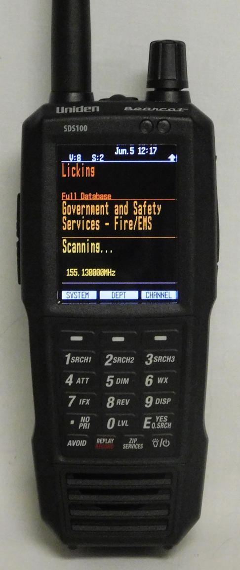 Uniden Bearcat SDS100 Scanner