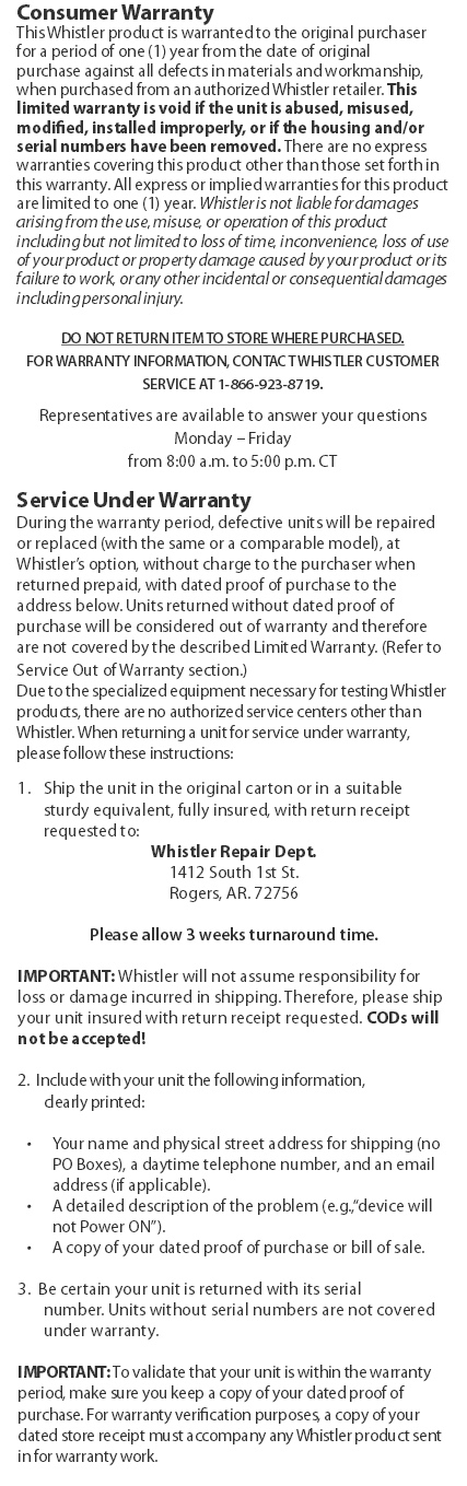 Whistler WS1088 Scanner Radio