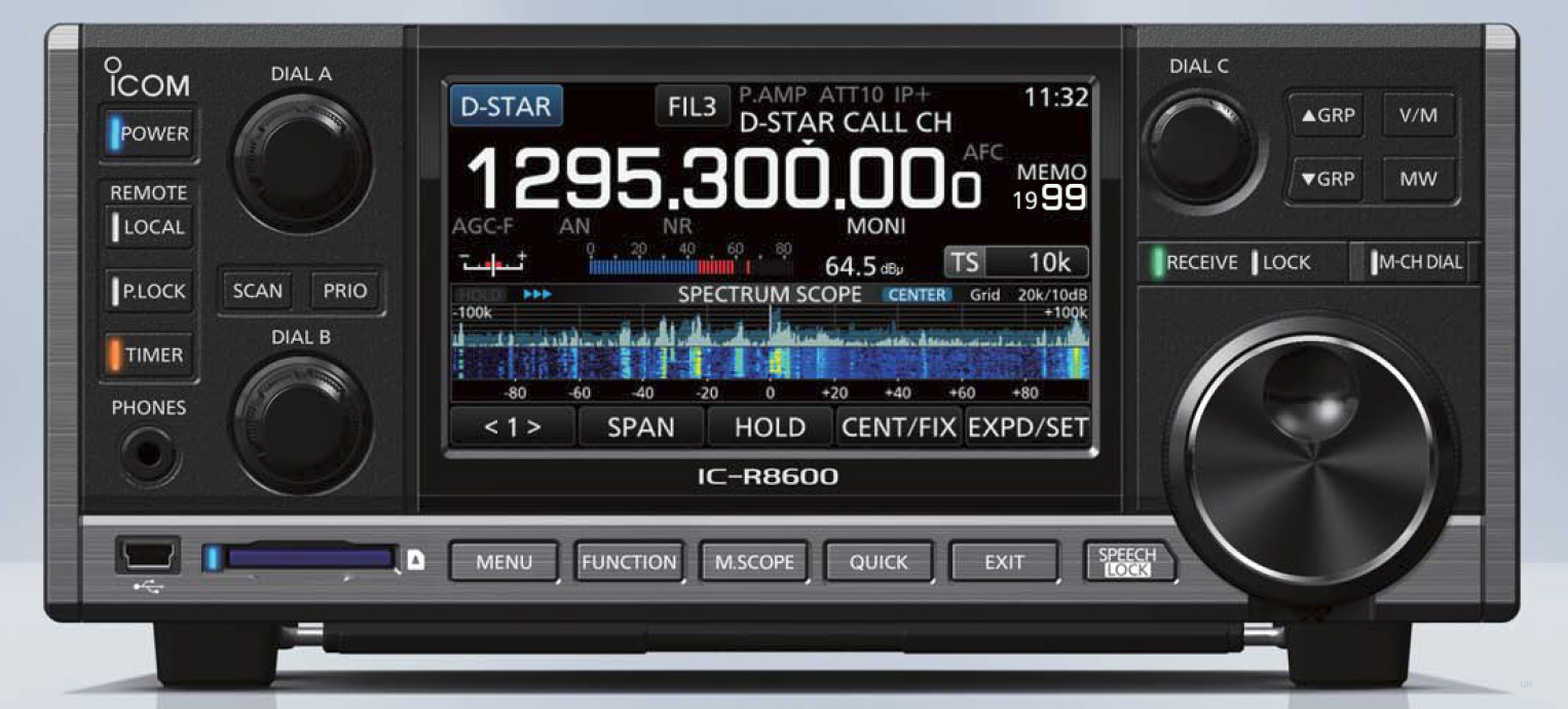 Icom R8600 Wideband Receiver Ic Rf Input With Bandpass Filter Switch Circuit Control Specifications Accessories Display Controls Sd Card Port