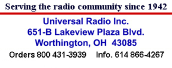 Universal Radio shortwave, amateur, scanner and CB radio