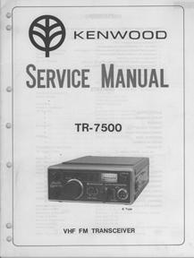 kenwood tr 7500 service manual