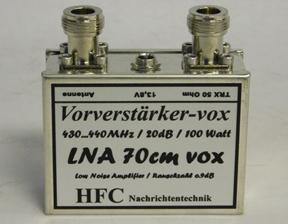 HFC LNA-70cm-VOX, Swagur AMP-L T-A