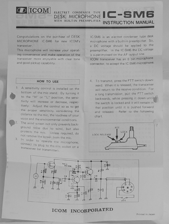 Ue Man on I Hm 36 Microphone Schematic
