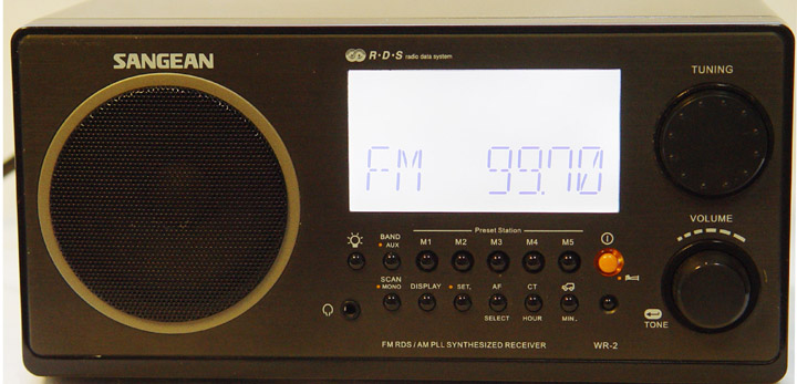 The Sangean WR 2 Is An AM FM Tabletop Radio That Produces A Truly Advanced Sound For All To Enjoy This Particular Has Black Finish
