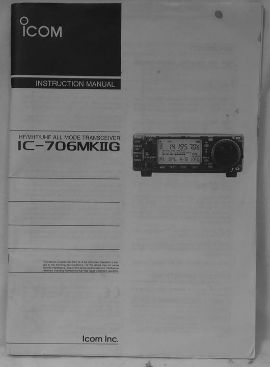 Ic 706mkiig Manual