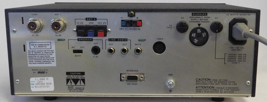 drake r8a drake r 8a receiver rh universal radio com drake r8 manual Drake R8 Modifications