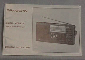 sangean digital radio instructions